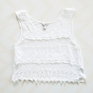 Forever 21 crochet crop top